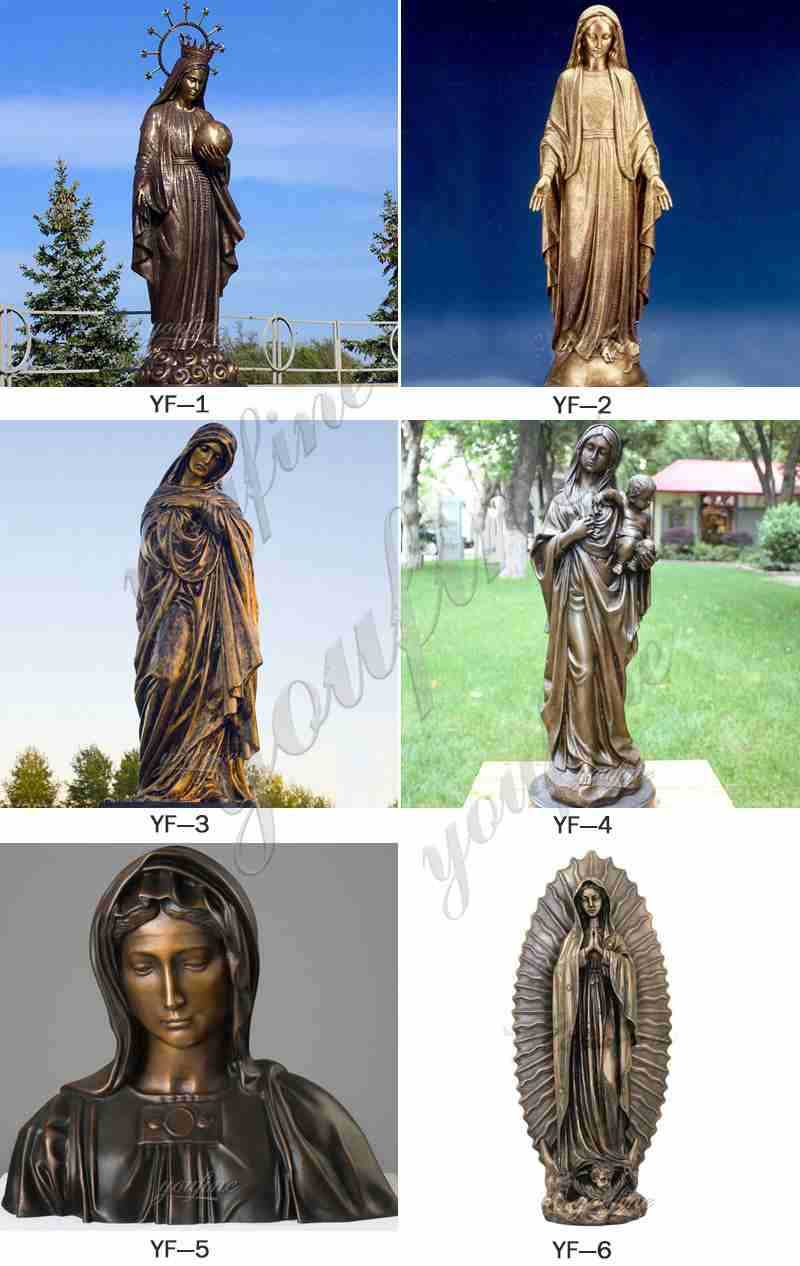 Bronze Mary Sculpture