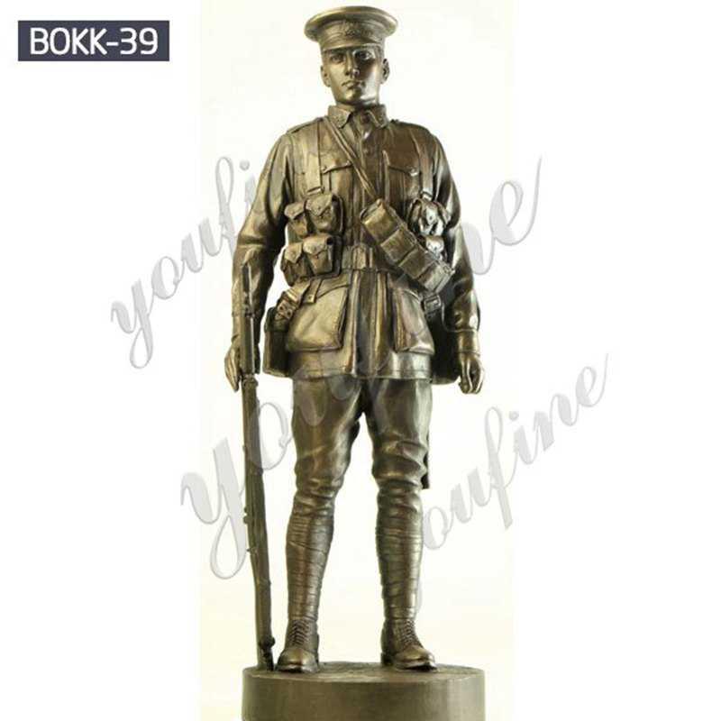 Bronze Soldier Garden Statue