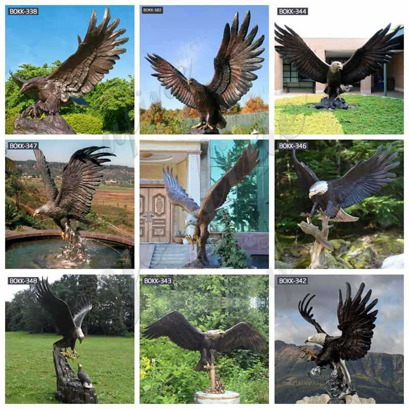 Cast bronze eagle statue for sale