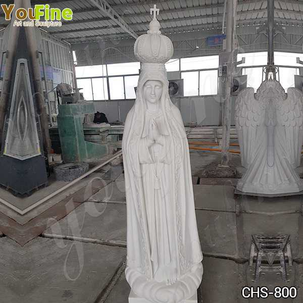 Catholic Our Lady of Fatima Marble Statue from Portugal Suppliers