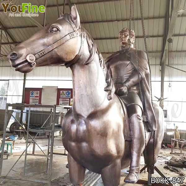 Classic Bronze Horse and Rider Statue Statue Suppliers