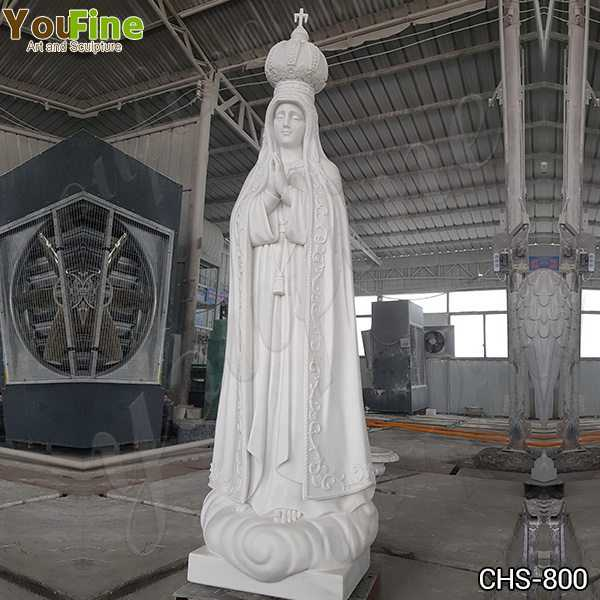 Classic Catholic Our Lady of Fatima Marble Statue from Portugal