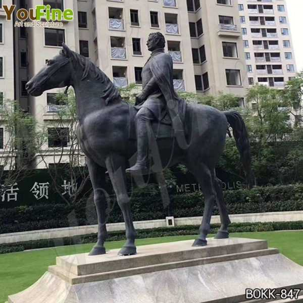 Classic Large Bronze Horse and Rider Statue Statue