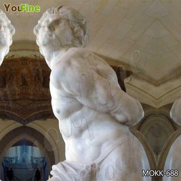 Classic Marble Rebellious Slave Statue Replica