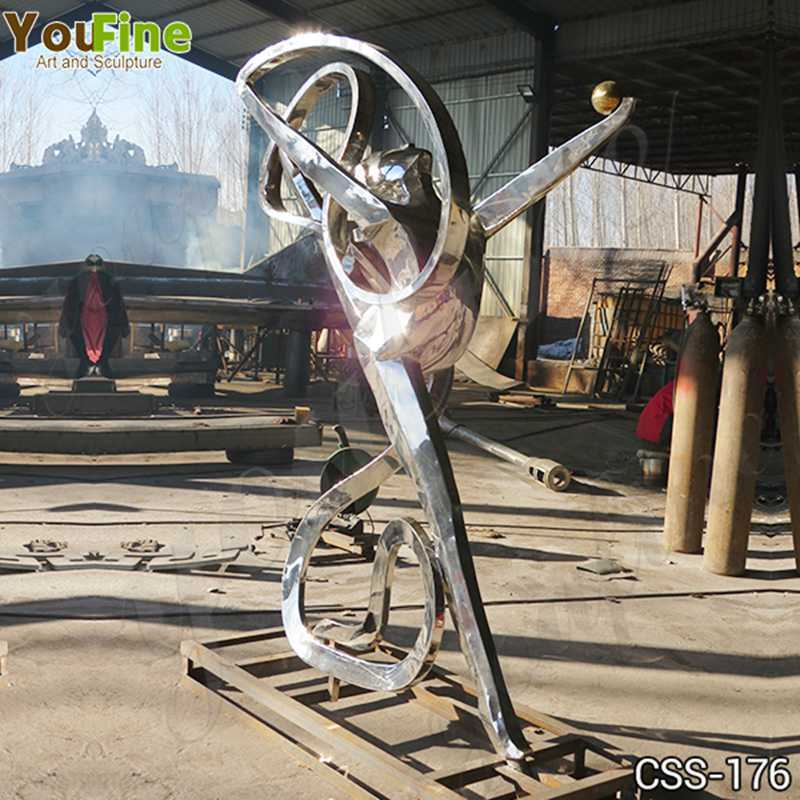 Custom Made Abstract Stainless Steel Figure Sculpture for Sale CSS-176