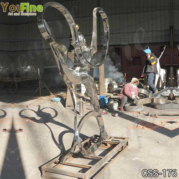Custom Made Stainless Steel Figure Sculpture