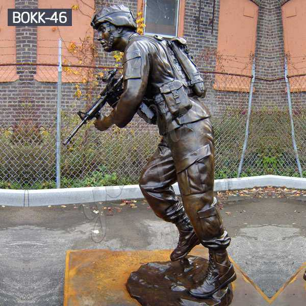 Customized Monumental Antique Bronze Soldier Statue in War on Terror Online BOKK-46
