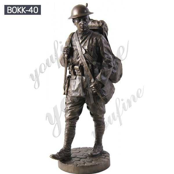 Customized Outdoor Military Antique Bronze Soldier Sculpture Wholesale BOKK-40
