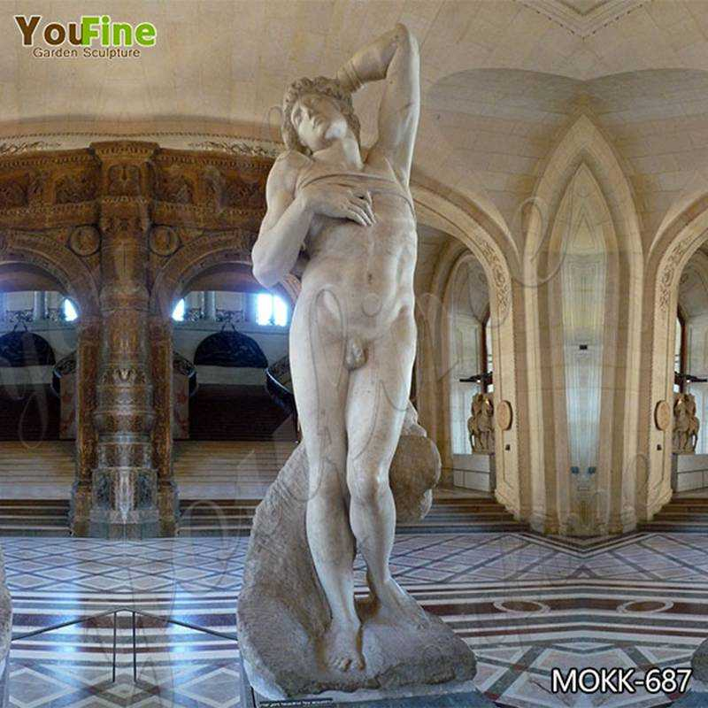 Famous Dying Slave Marble Statue by Michelangelo Replica for Sale MOKK-687