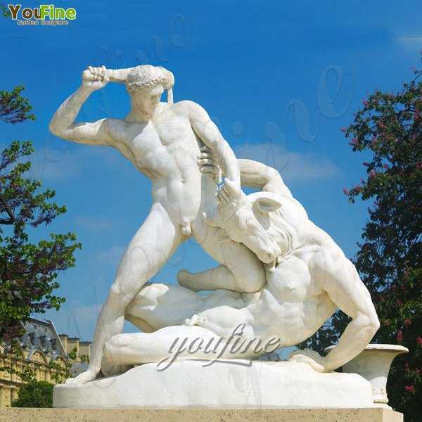 Famous Art Sculptures Theseus Fighting the Minotaur by Jules Ramey for Sale MOKK-214