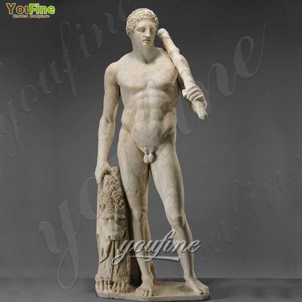Life Size Marble Man Statue Famous Art God Hercules for sale MOKK-225
