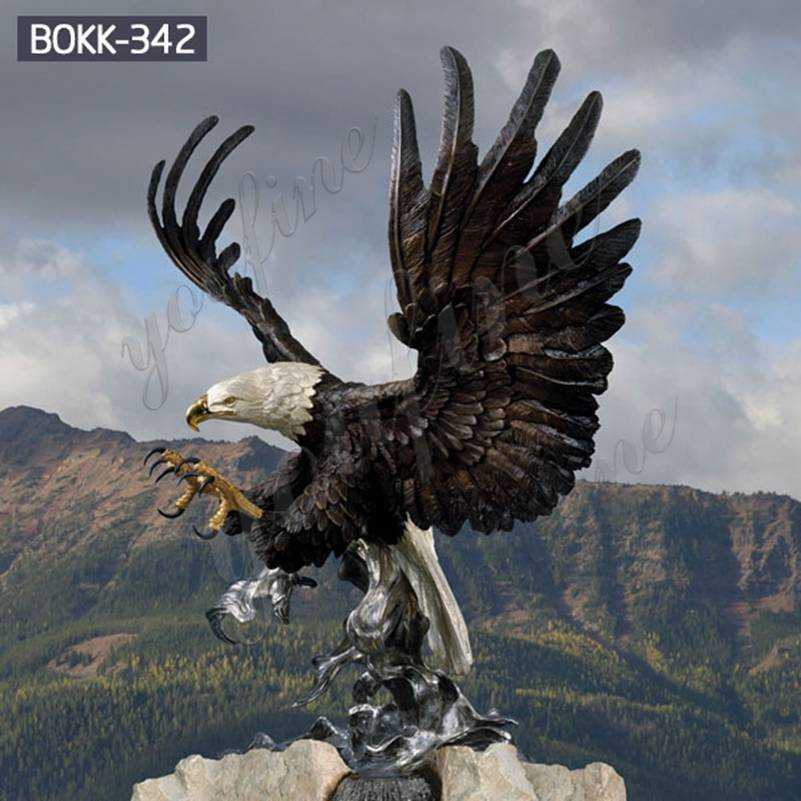 Full Size Bald Eagle Bronze Outdoor Statue Suppliers BOKK-342