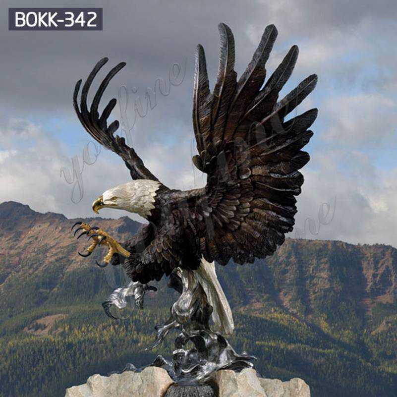 Full Size Bald Eagle Bronze Outdoor Statue Suppliers BOKK-342