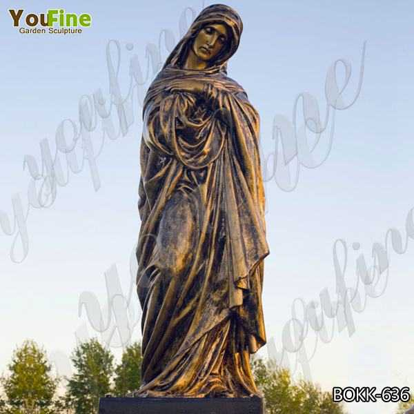 Hot-selling Outdoor Casting Bronze Mary Sculpture for Church Manufacturer BOKK-636