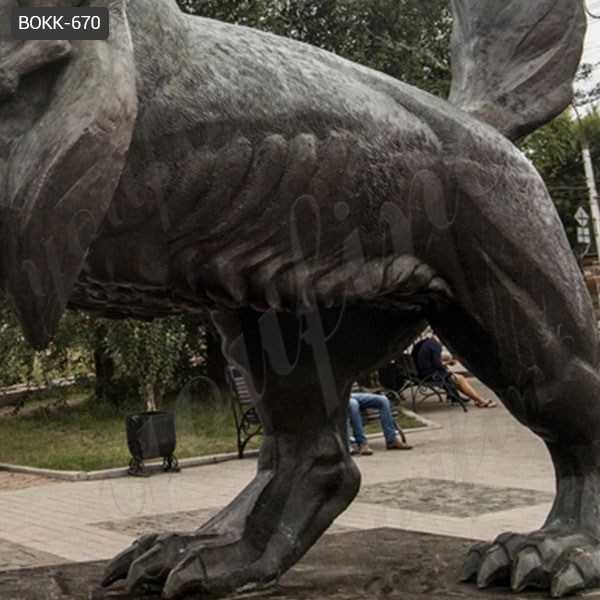 Large Black Bronze Tiger Sculpture