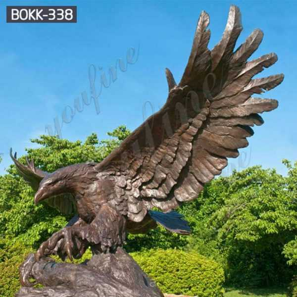 Large Outdoor Bronze Eagle Statues Wholesale BOKK-338