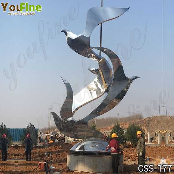 Large Stainless Steel Abstract Bird Sculpture Project