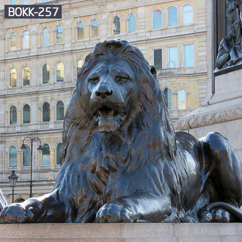 Life Size Antique Bronze Lion Statues Outdoor Suppliers BOKK-257