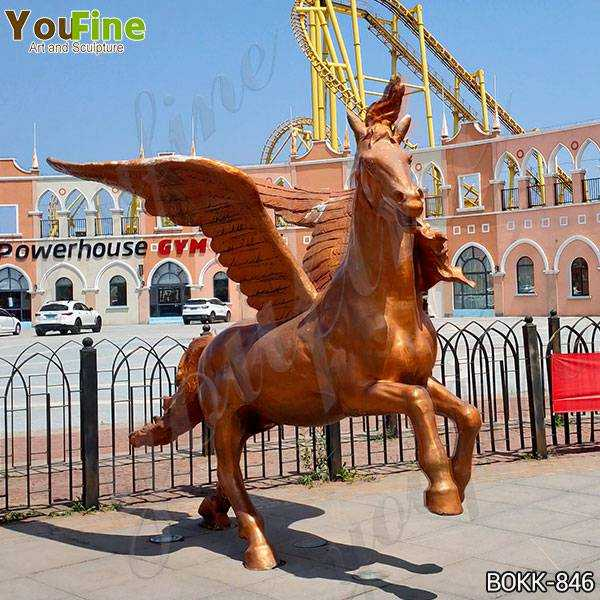 Life Size Bronze Pegasus Garden Statue Outdoor