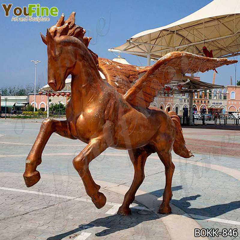Life Size Bronze Pegasus Garden Statue Outdoor for Sale BOKK-846