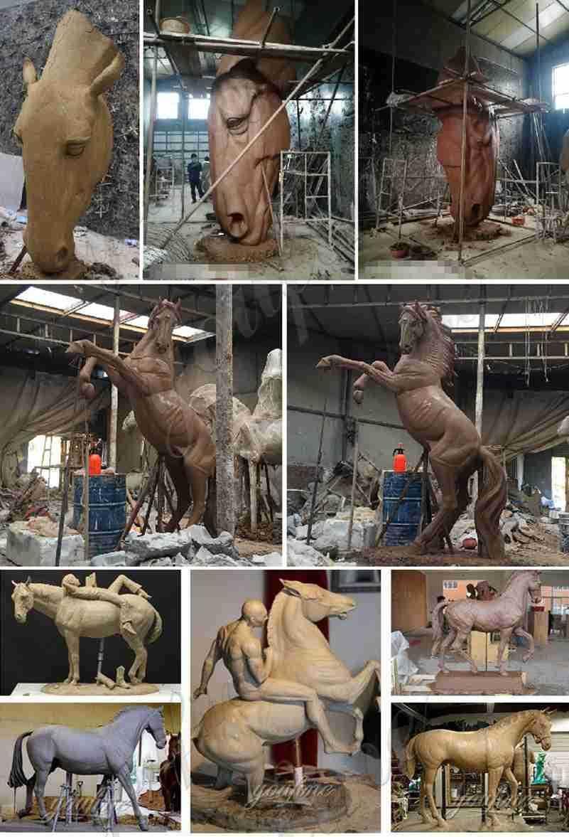 Life Size Bronze Pegasus Garden Statue for Sale