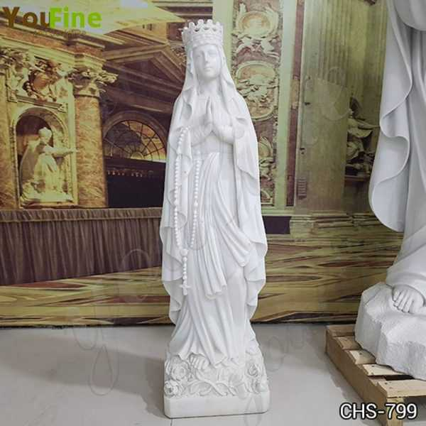 Life Size Marble Blessed Virgin Mary Garden Statue