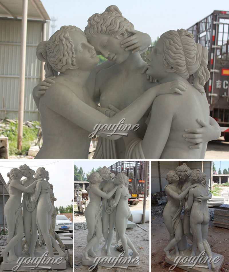 Life Size Marble the Three Graces statue