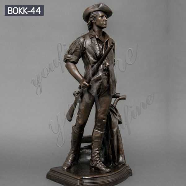 Life Size Outdoor Memorial Casting Bronze Soldier Garden Statue for Sale BOKK-44