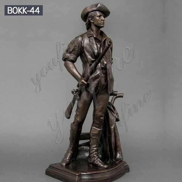 Life Size Outdoor Memorial Casting Bronze Soldier Garden Statue for Sale BOKK-44