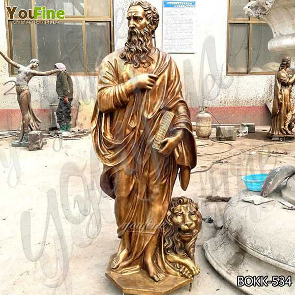 Life Size Religious Casting Bronze Garden Statues for Home Decor