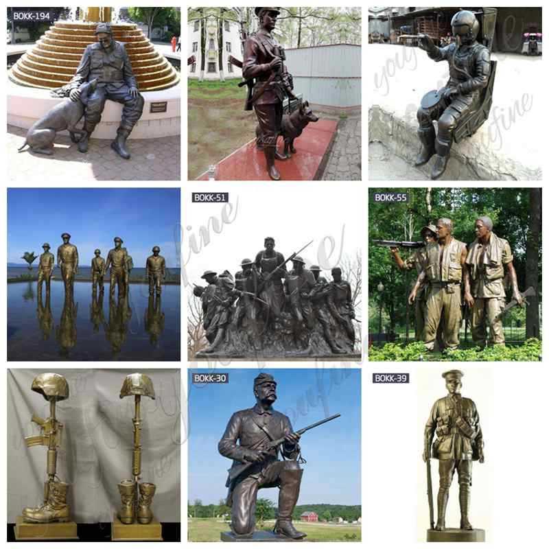Life-size Bronze Soldier Sculpture