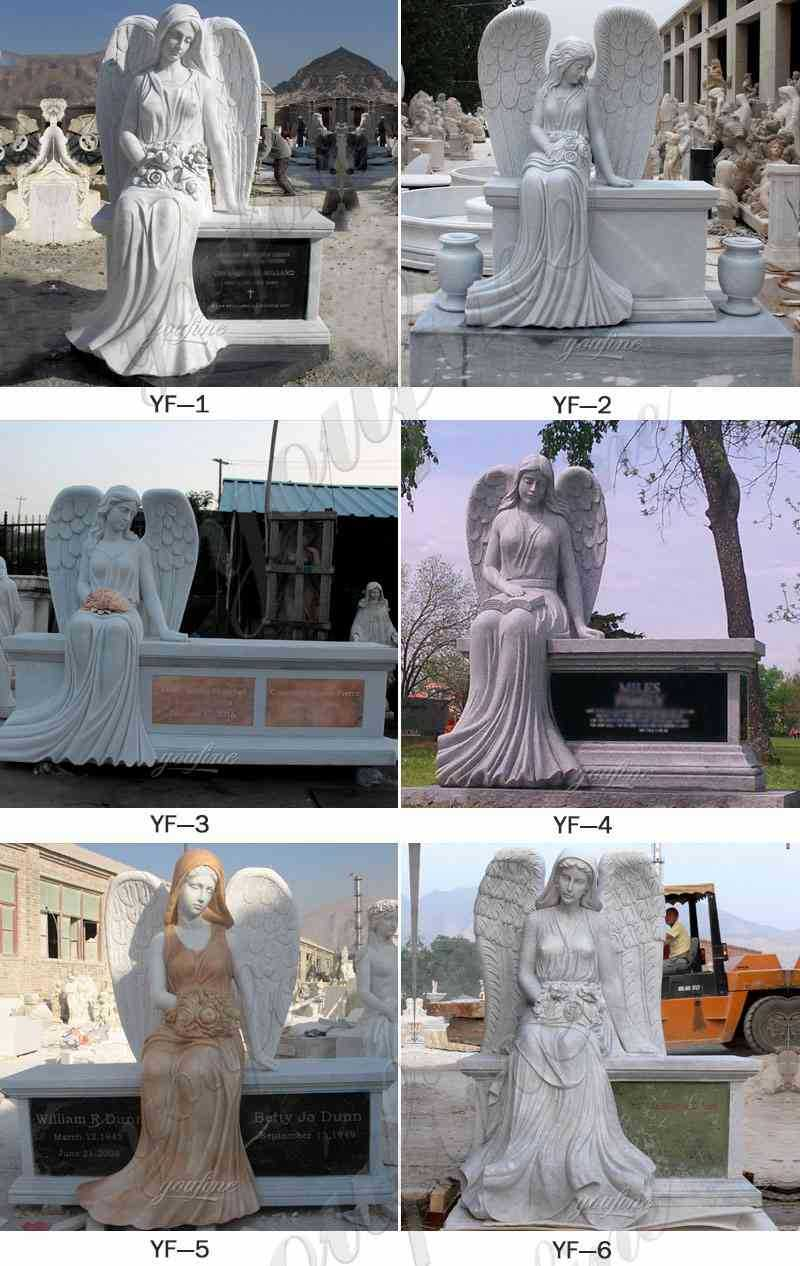 Marble Angel Headstones from Factory Supply
