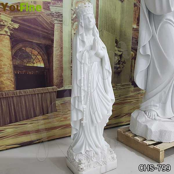 Marble Blessed Virgin Mary Garden Statue for Sale