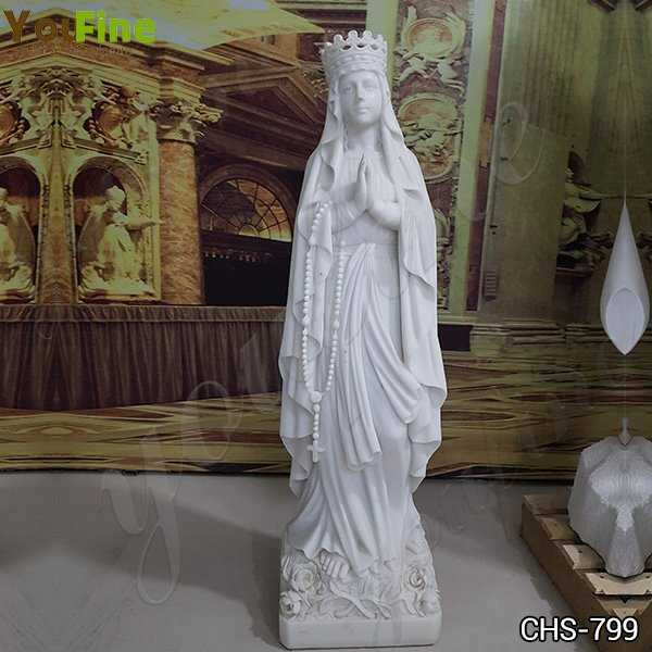 Marble Blessed Virgin Mary Garden Statue