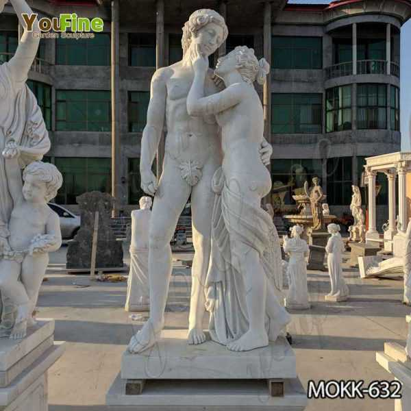 Marble Nude Man and Woman Garden