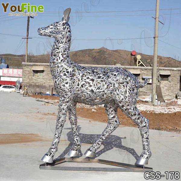 Modern Stainless Steel Deer Sculpture Design Suppliers