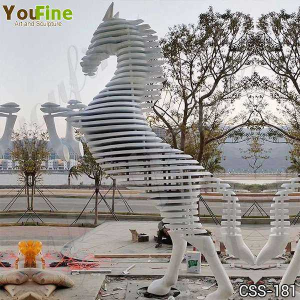 Outdoor Abstract Metal Horse Sculpture