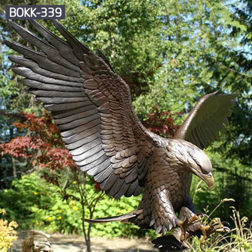 Outdoor Antique Bronze Eagle Sculpture from Factory Supply BOKK-339