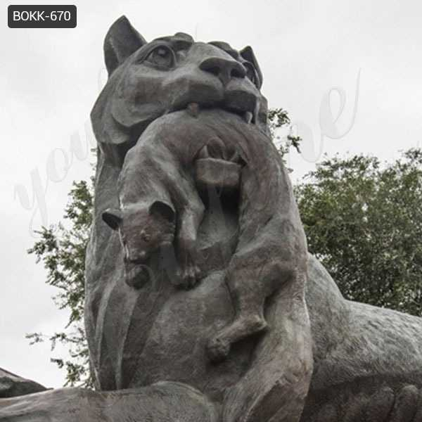 Outdoor Black Bronze Tiger Sculpture from Factory Supply