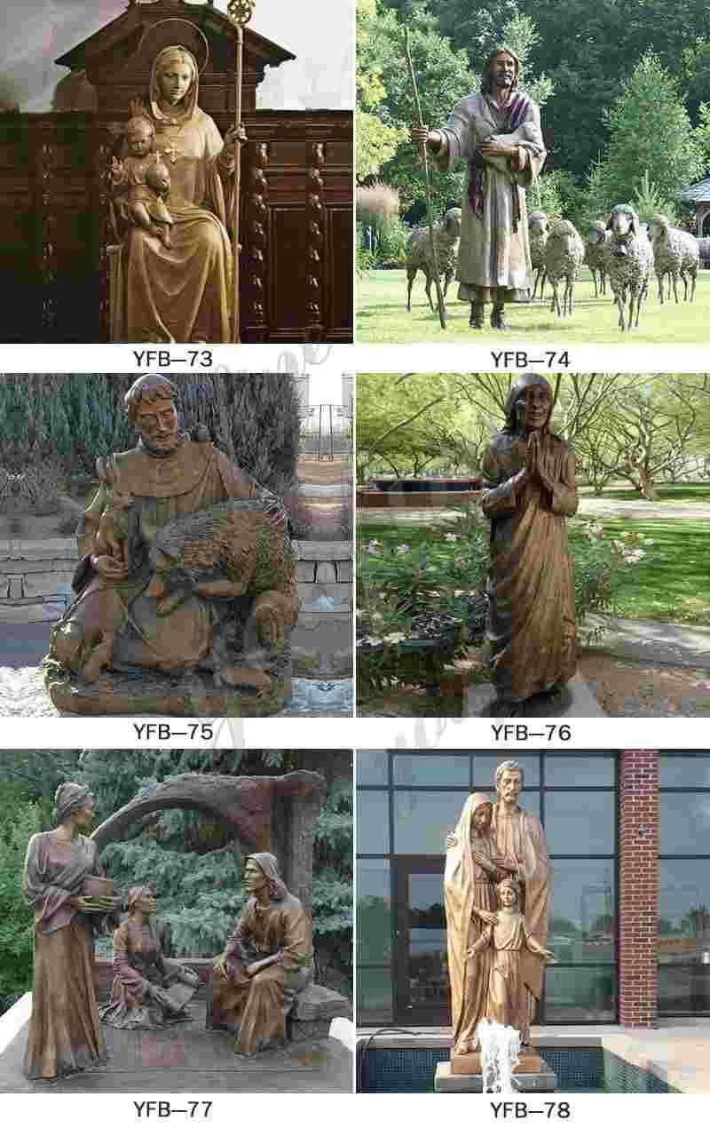 Outdoor Bronze Religious Sculptures