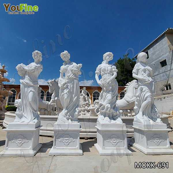 Outdoor Garden Four Seasons Marble Statues for Sale MOKK-691