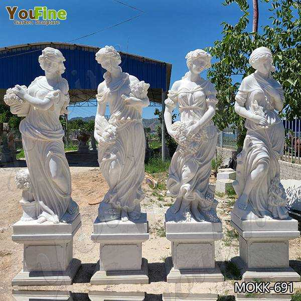 Outdoor Garden Four Seasons Marble Statues