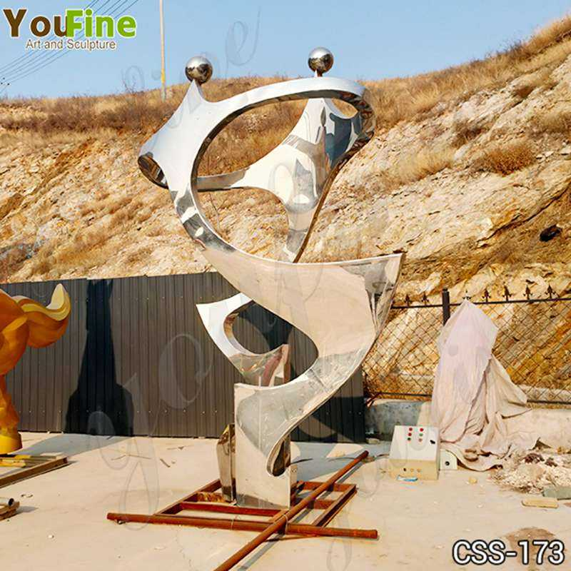 Outdoor High Polished Stainless Steel Metal Sculpture Suppliers