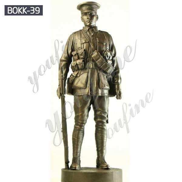Outdoor Military Antique Bronze Standing Soldier Garden Statue Manufacturer BOKK-39