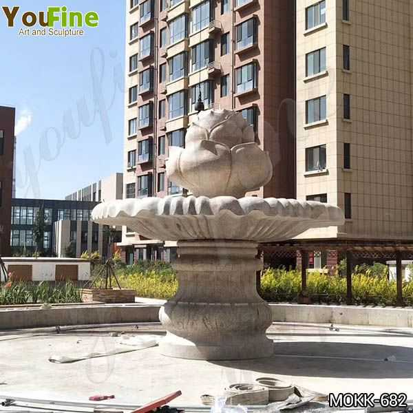 Outdoor One Tiered Granite Water Fountain for Sale