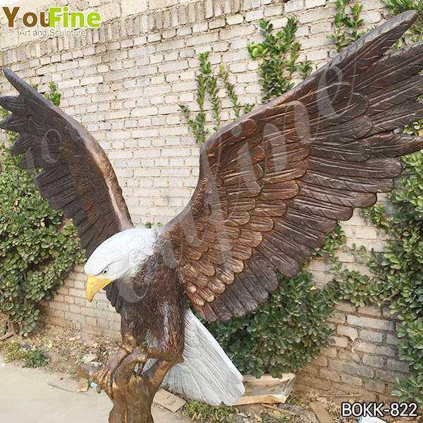 Solid Bronze Eagle Statue for Garden Decor for Sale