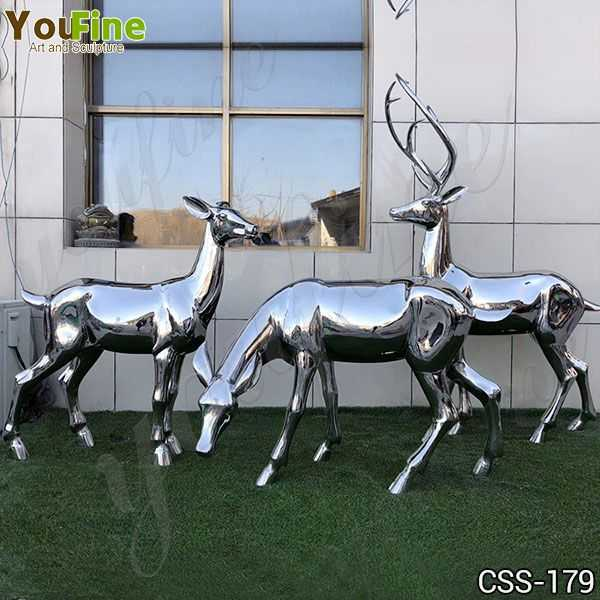 Stainless Steel Deer Sculpture Manufacturer