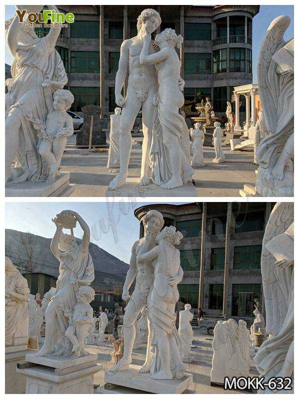 Western Marble Nude Man and Woman Garden Sculpture Suppliers