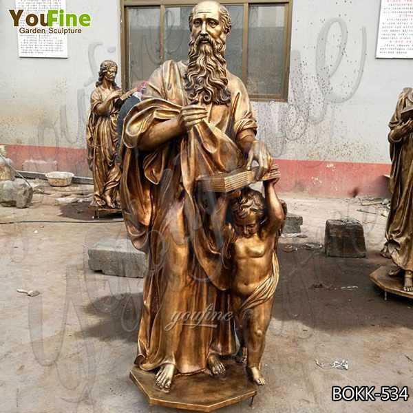 Wholesale Life Size Religious Casting Bronze Garden Statues for Home Decor
