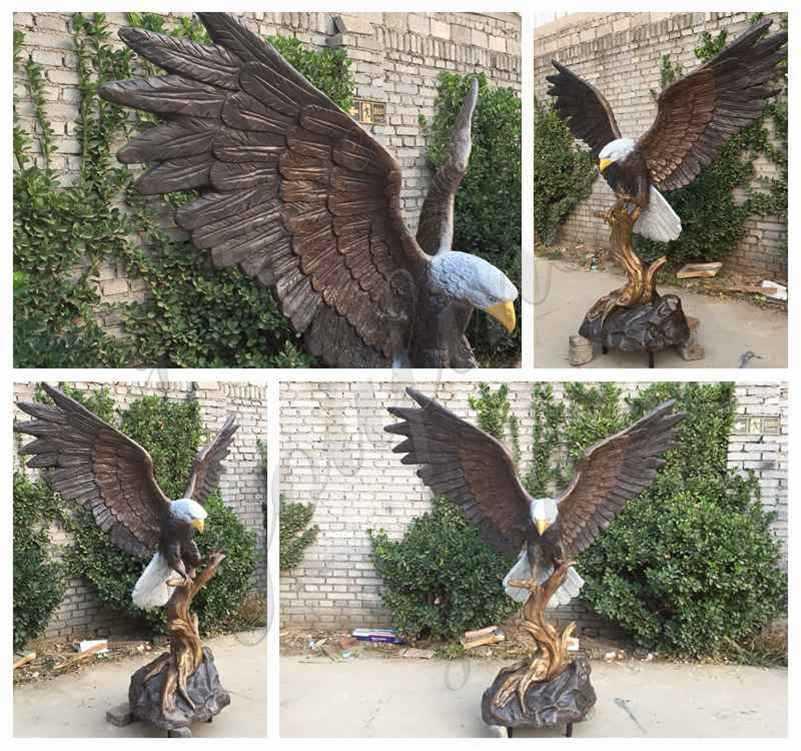 bronze eagle statues details